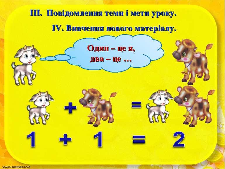 ІІІ. Повідомлення теми і мети уроку. ІV. Вивчення нового матеріалу.