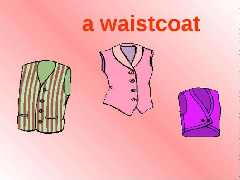 a waistcoat