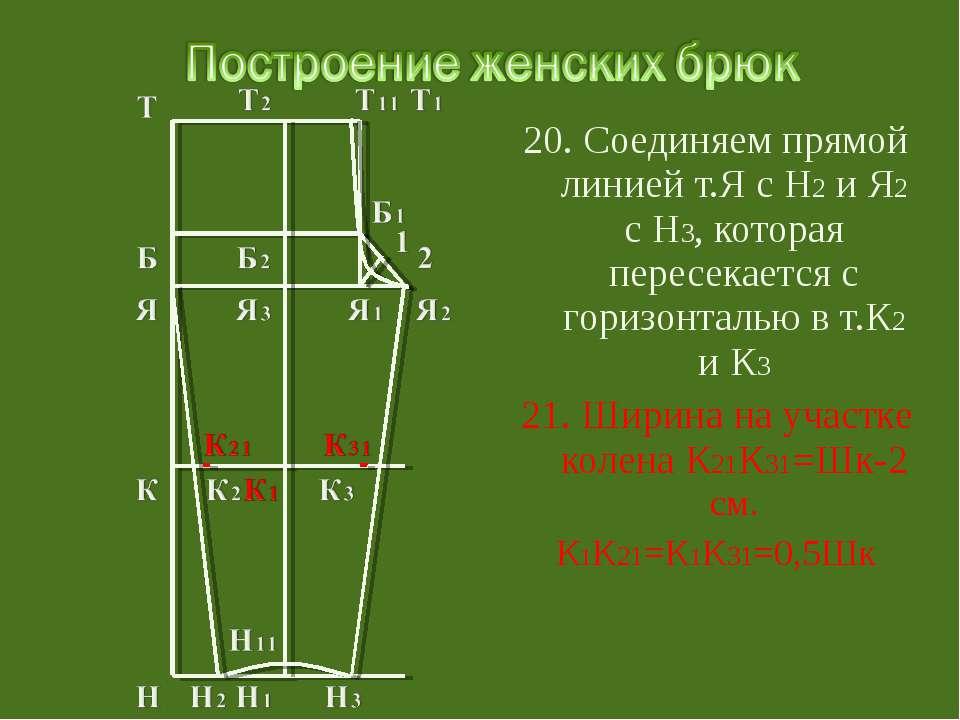 20. Соединяем прямой линией т.Я с Н2 и Я2 с Н3, которая пересекается с горизо...