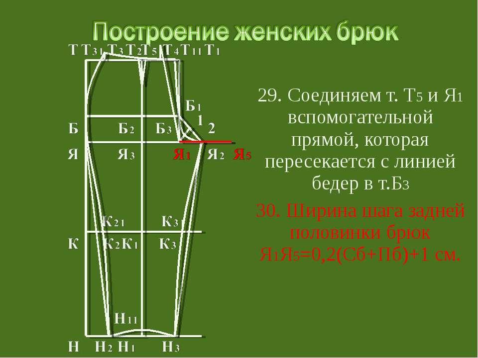 29. Соединяем т. Т5 и Я1 вспомогательной прямой, которая пересекается с линие...