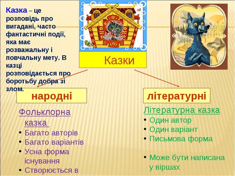 Казки народні літературні Фольклорна казка Багато авторів Багато варіантів Ус...