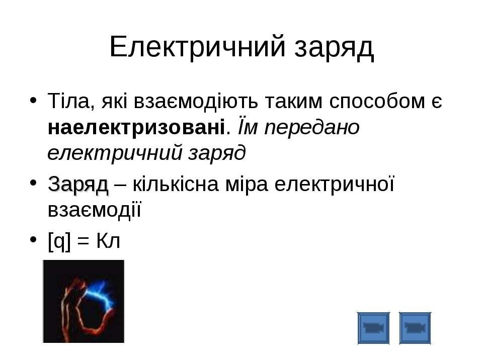 Електричний заряд Тіла, які взаємодіють таким способом є наелектризовані. Їм ...