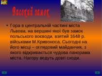Гора в центральній частині міста Львова, на вершині якої був замок польського...