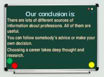 Our conclusion is: There are lots of different sources of information about p...