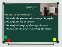 Group 4 The aims of our work are : 1) to make the questionnaires among the pu...