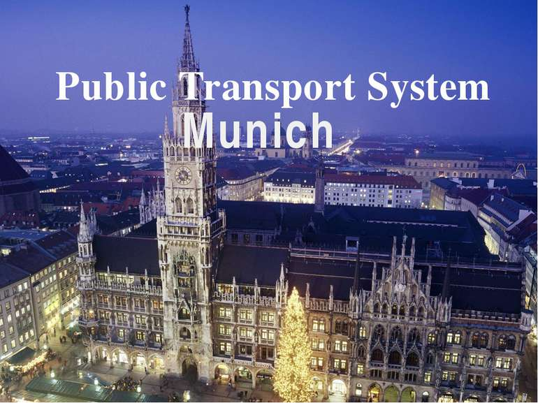 Public Transport System Munich
