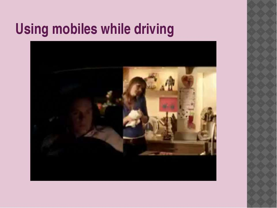 Using mobiles while driving