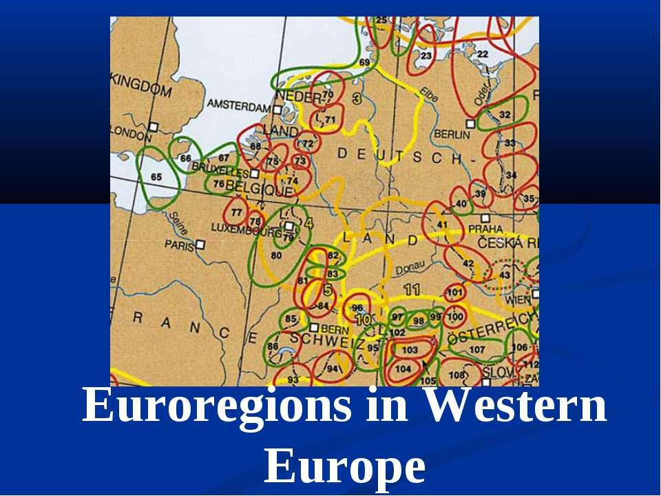 Euroregions in Western Europe