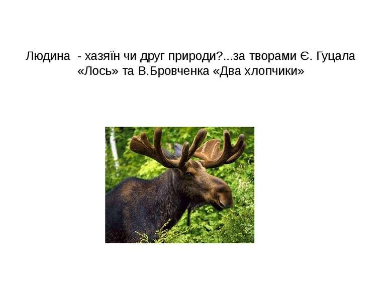Людина - хазяїн чи друг природи?...за творами Є. Гуцала «Лось» та В.Бровченка...
