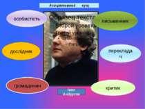 письменник перекладач критик громадянин дослідник особистість Асоціативний ку...