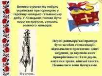 Великого розвитку набуло українське прапорництво у героїчну козацько-гетьманс...