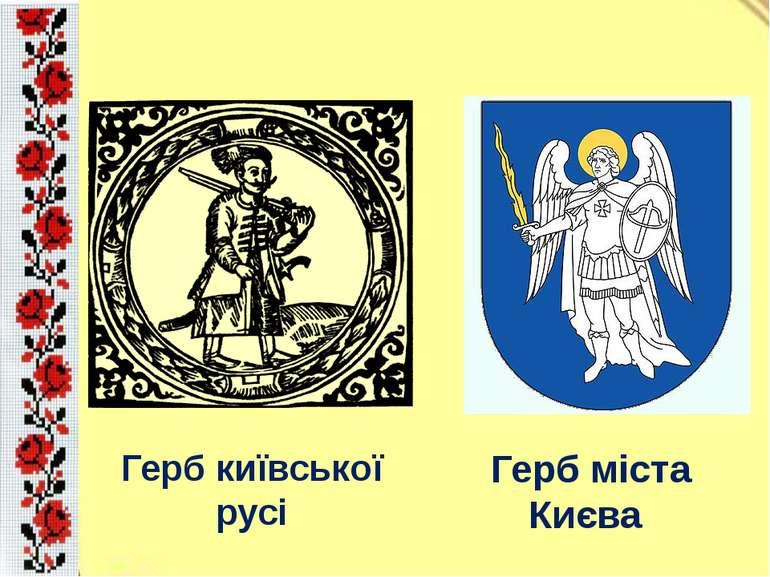 Герб київської русі Герб міста Києва