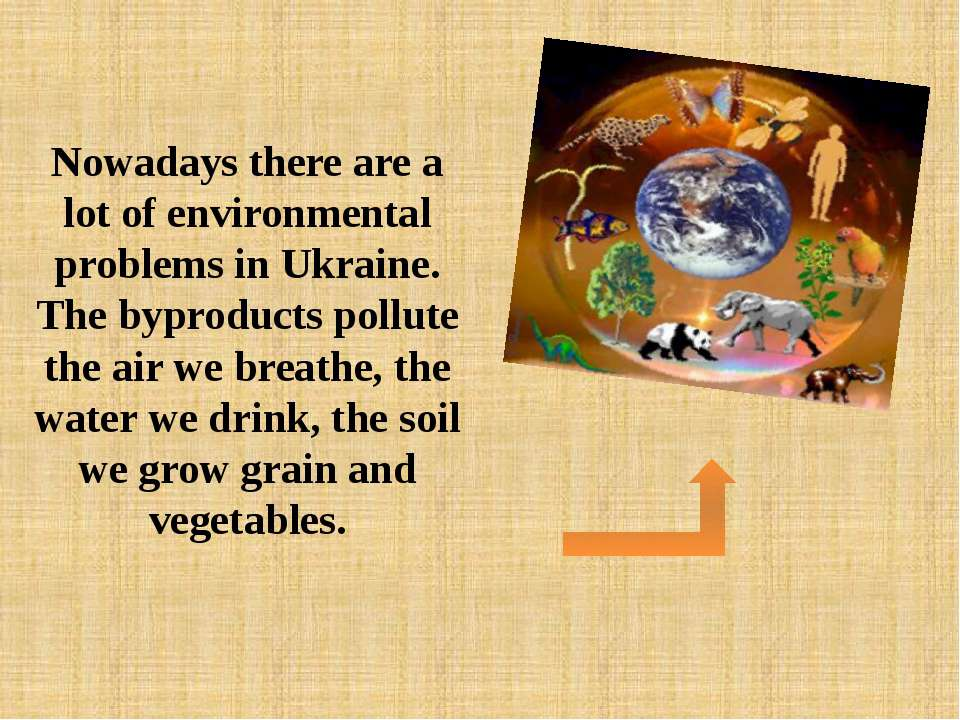 Nowadays there are a lot of environmental problems in Ukraine. The byproducts...