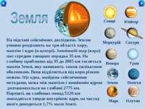 Сонце Меркурій Сатурн Венера Уран Земля Нептун Юпітер Марс Плутон На підставі...