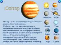 Сонце Меркурй Сатурн Венера Уран Земля Нептун Юпітер Марс Плутон Юпітер – п'я...
