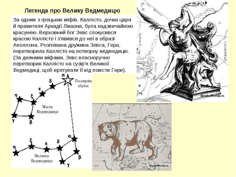 За одним з грецьких міфів, Каллісто, дочка царя й правителя Аркадії Лікаона, ...