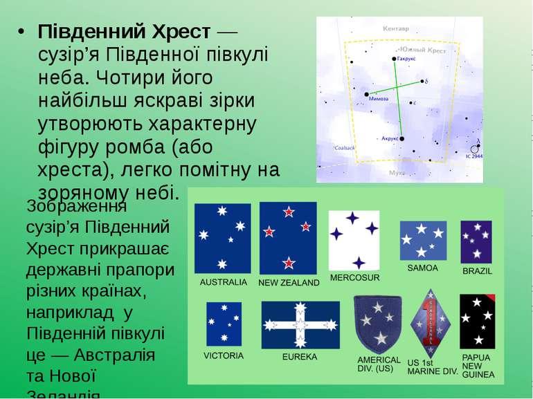 Південний Хрест— сузір'я Південної півкулі неба. Чотири його найбільш яскрав...