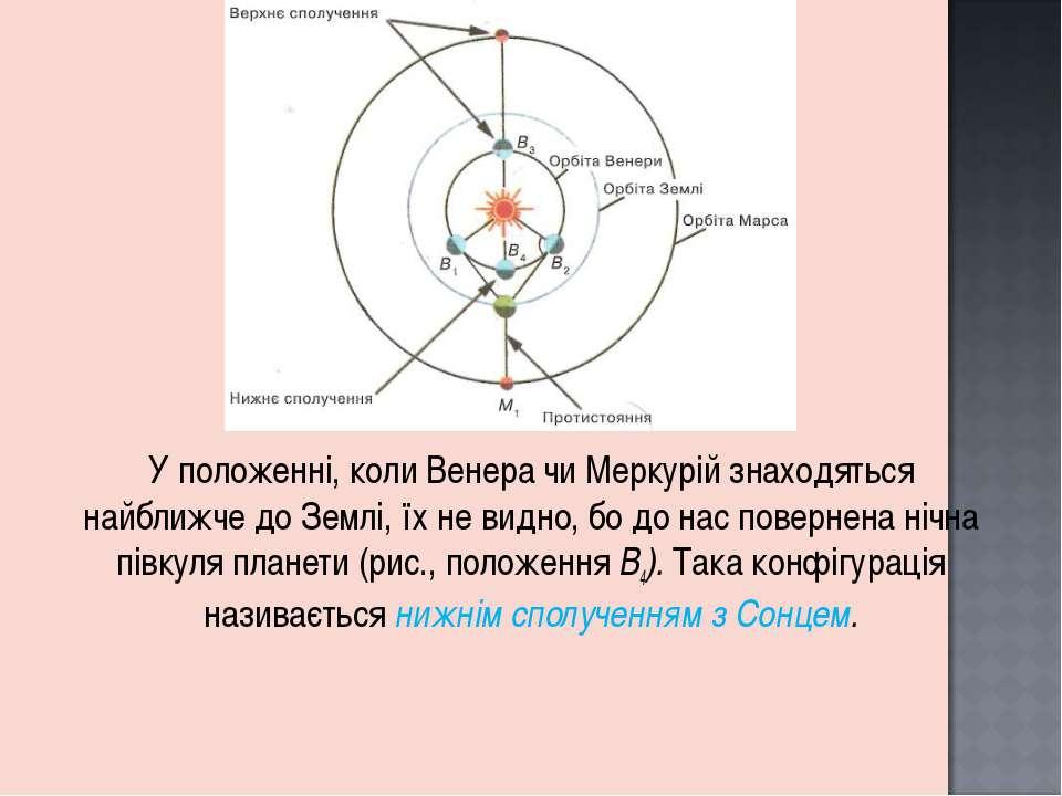 У положенні, коли Венера чи Меркурій знаходяться найближче до Землі, їх не ви...