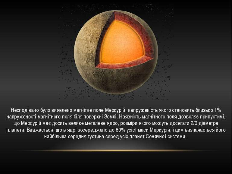 Несподівано було виявлено магнітне поле Меркурій, напруженість якого становит...