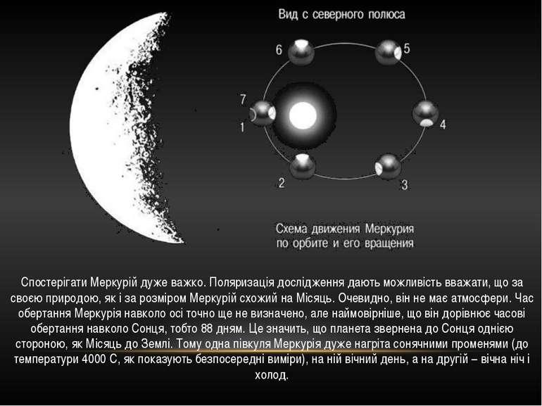 Спостерігати Меркурій дуже важко. Поляризація дослідження дають можливість вв...
