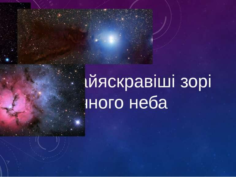 Найяскравіші зорі нічного неба