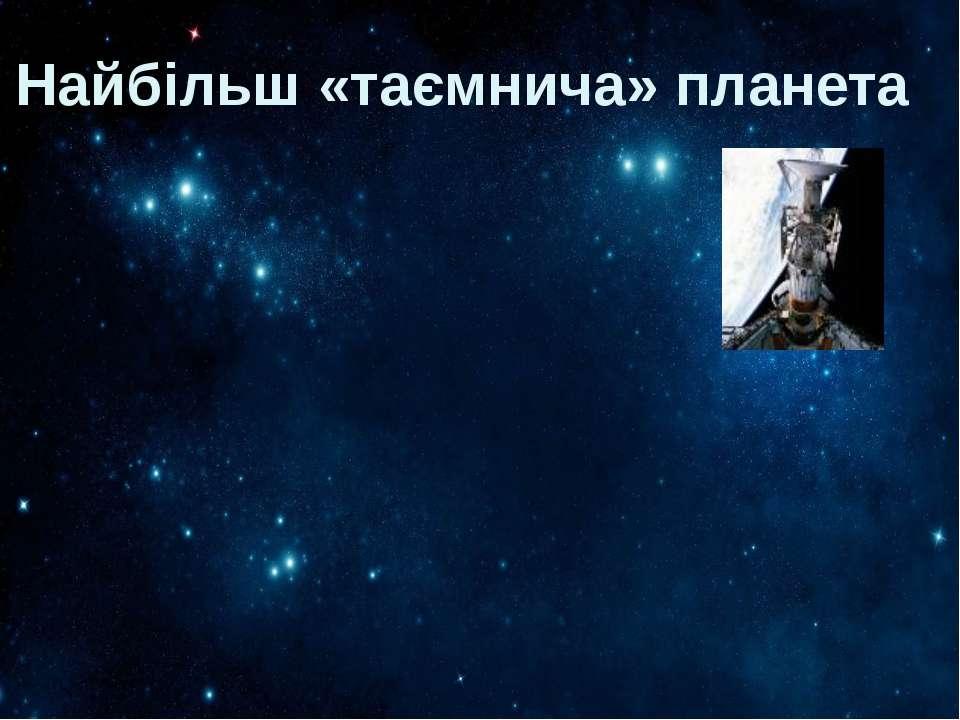 Найбільш «таємнича» планета