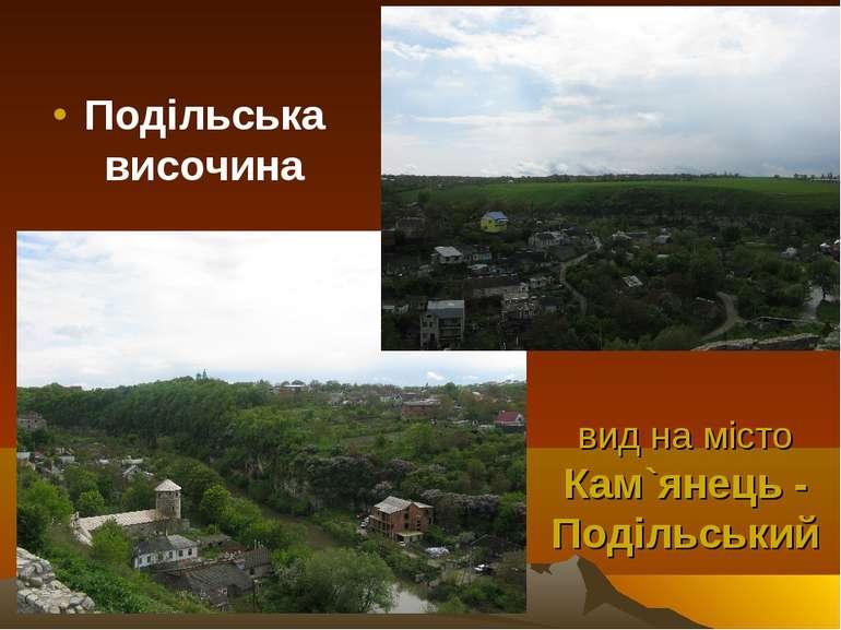 вид на місто Кам`янець - Подільський Подільська височина