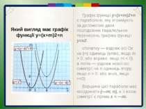 Пункт 3.4-3.5. Будуємо графік функції у=3х2: 1). Будуємо графік функції у=х2 ...