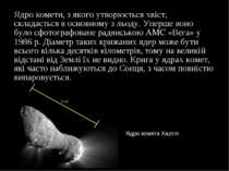 Ядро комети, з якого утворюється хвіст, складається в основному з льоду. Упер...