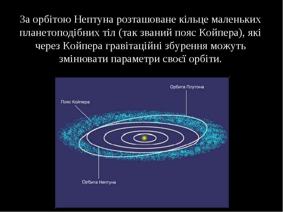 За орбітою Нептуна розташоване кільце маленьких планетоподібних тіл (так зван...