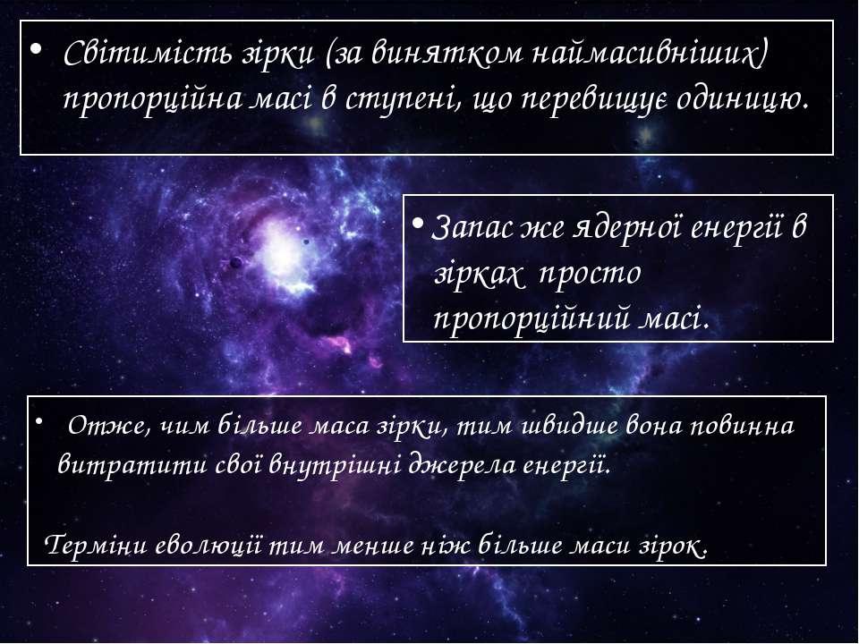 Світимість зірки (за винятком наймасивніших) пропорційна масі в ступені, що п...