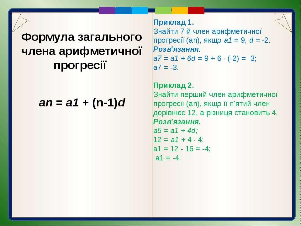 Первинне закріплення вивченого матеріалу 471. Які з послідовностей є арифмети...