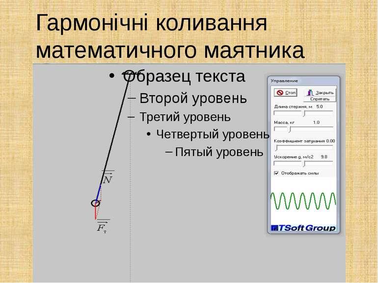 Гармонічні коливання математичного маятника