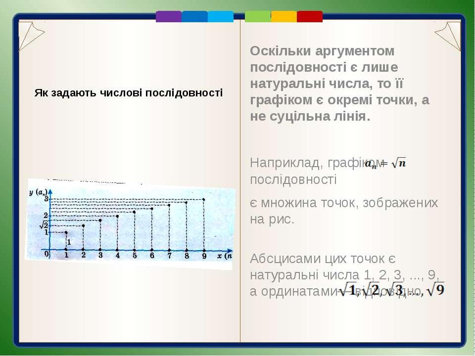 Приклад 1. Формула задає числову послідовність: 3; 5; 7; … бо Приклад 2. Форм...