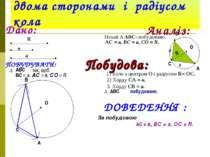 Побудова трикутника за двома сторонами і радіусом кола Дано: • • • • • • R в ...