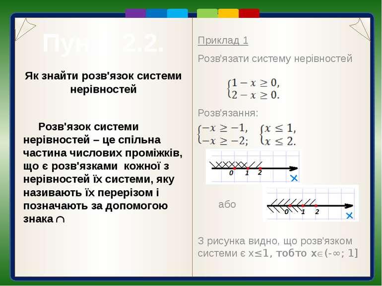 До систем лінійних нерівностей з однією змінною може привести розв'язування д...