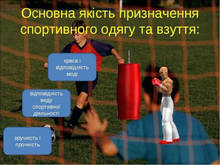 Основна якість призначення спортивного одягу та взуття: відповідність виду сп...