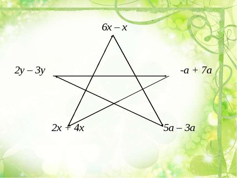 6х – х 2у – 3у -а + 7а 2х + 4х 5а – 3а