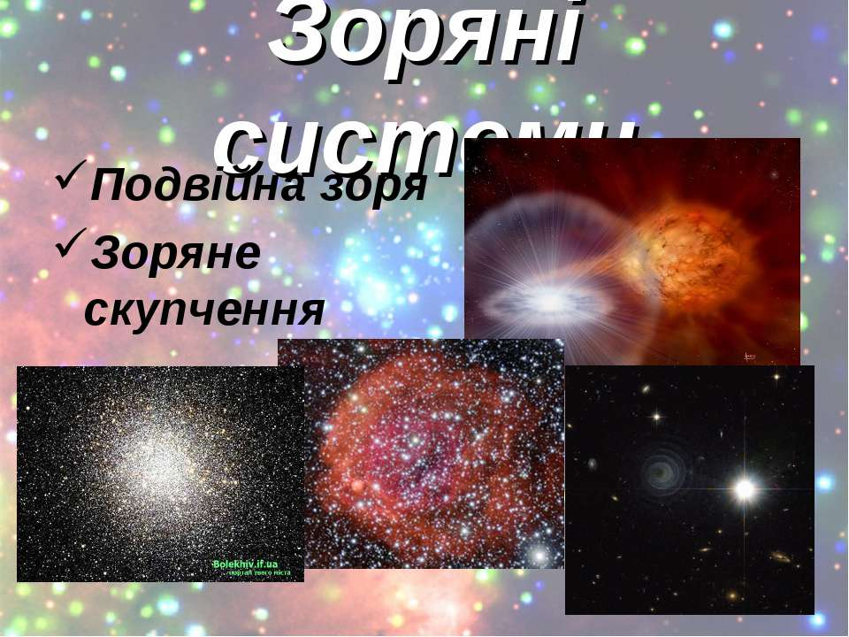 Зоряні системи Подвійна зоря Зоряне скупчення