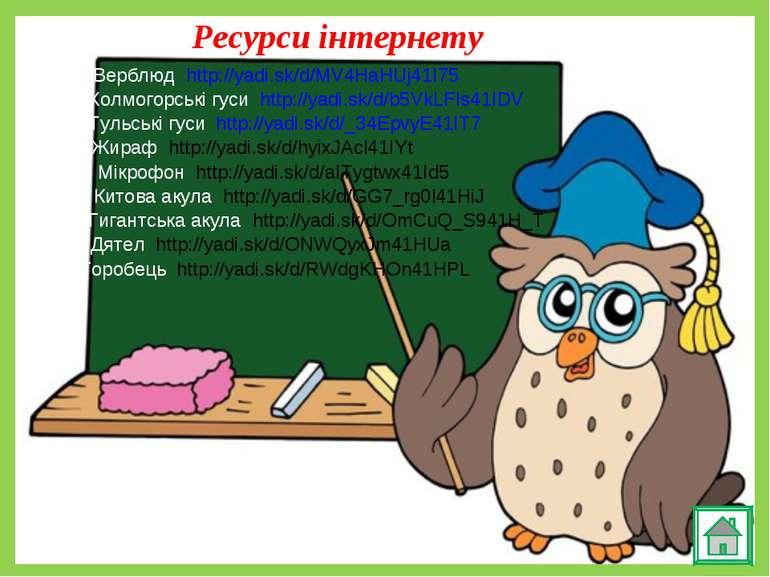 Ресурси інтернету Верблюд http://yadi.sk/d/MV4HaHUj41I75 Холмогорські гуси ht...