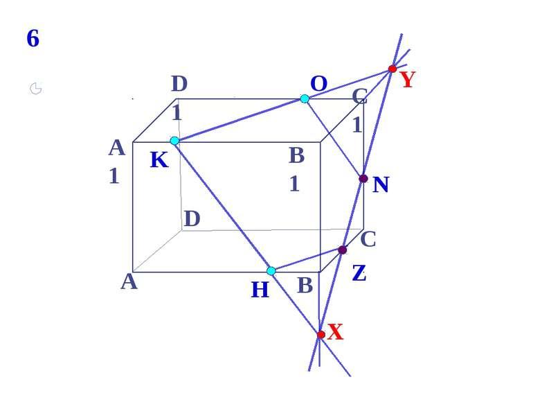 K А В С D А1 D1 С1 B1 N H О Z 6 Y X * Построить сечение параллелепипеда, прох...