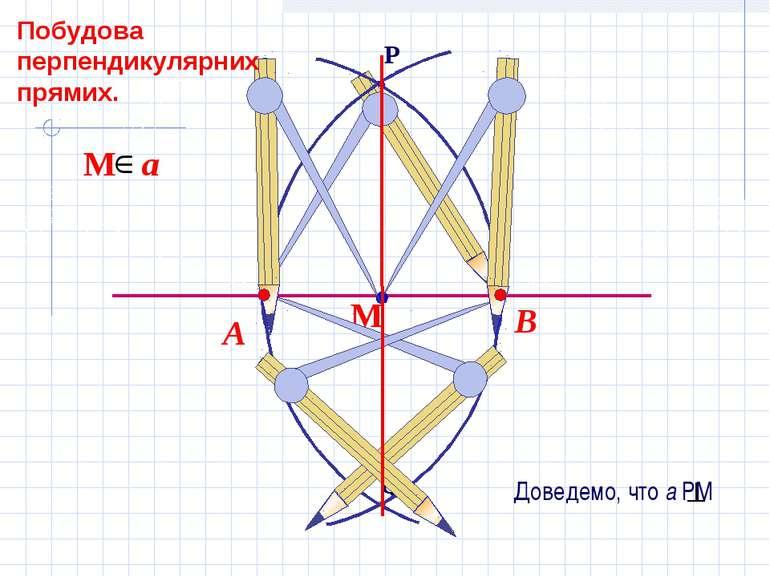 В А Побудова перпендикулярних прямих.