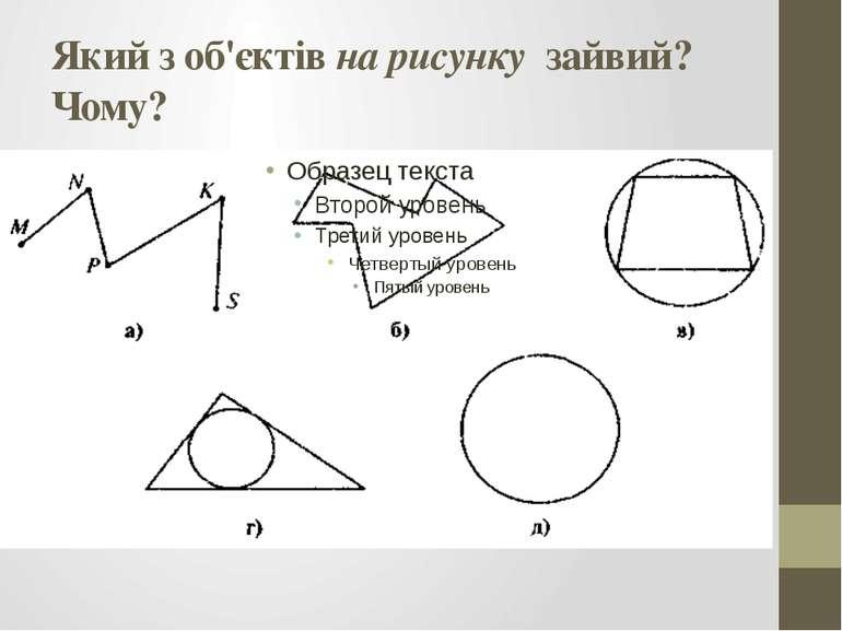 Який з об'єктів на рисунку зайвий? Чому?