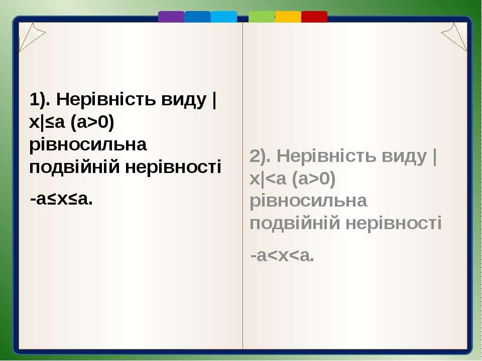 Пункт 2.3. Розв'язання |x-2|>3 x-2>3 і x-23+2 і x5 і x5) і зліва від точки з ...