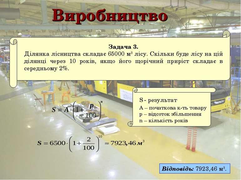 Виробництво Відповідь: 7923,46 м3.
