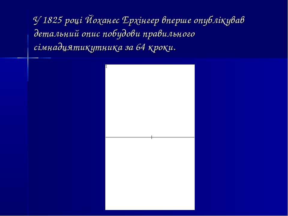 У 1825 році Йоханес Ерхінгер вперше опублікував детальний опис побудови прави...