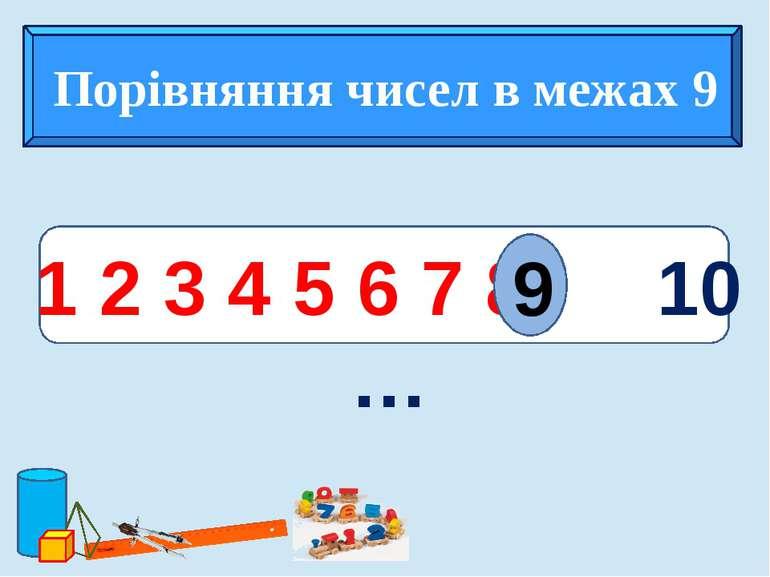 з 1 2 3 4 5 6 7 8 10 … 9 Порівняння чисел в межах 9