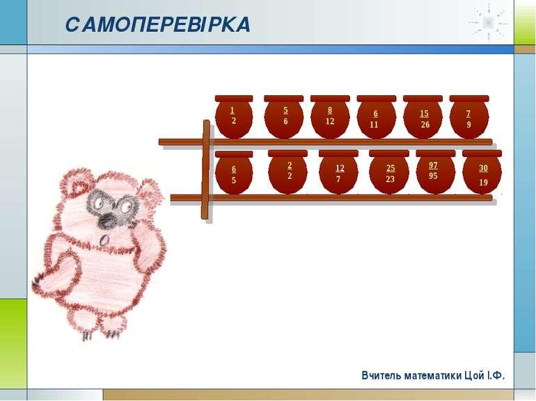 Company Logo www.themegallery.com САМОПЕРЕВІРКА Вчитель математики Цой І.Ф. C...