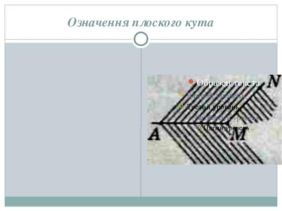 Означення плоского кута