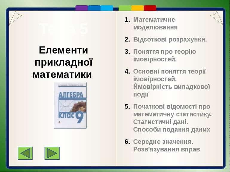 Пункт 7.2. Основні задачі на відсотки Розглянемо прикладні задачі четвертого ...